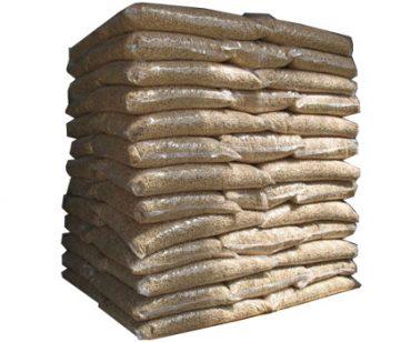 packed pellet bags