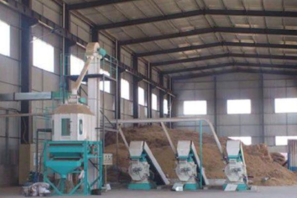 sawdust pellet plant