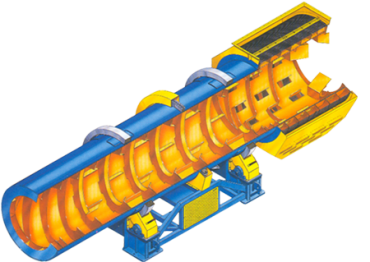 rotary drum dryer structure